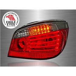 BMW E60 5-Series 2003 - 2010 EAGLE EYES Red Smoke Lens CGI LED Light Bar Tail Lamp [TL-012-BMW]