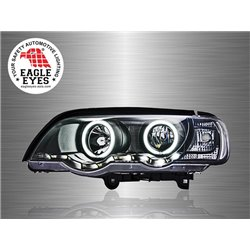 BMW E53 X5 1999 - 2006 EAGLE EYES CCFL LED Light Ring Starline Projector Head Lamp [HL-023-BMW-1]