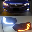 HONDA CITY GM6 Facelift 2017 2in1 Plug and Play Eagle Wing Concept LED Daytime Running Light DRL with Signal Fog Lamp Cover