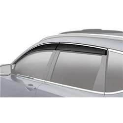 HONDA CRV 2017 Premium Stainless Steel Chrome Lining Anti UV Light Door Visor with Clip