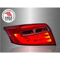 TOYOTA VIOS 2013 - 2017 EAGLE EYES F-Style Red Smoke Lens LED Light Bar Tail Lamp [TL-225]