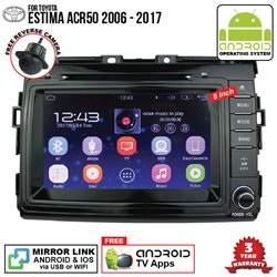 "TOYOTA ESTIMA ACR50 2006 - 2017 SKY NAVI 8"" FULL ANDROID Double Din GPS DVD CD USB SD BLUETOOTH IOS Mirror Link Player"