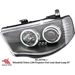 MITSUBISHI TRITON L200 2005 - 2015 EAGLE EYES CCFL LED Day Light Projector Head Lamp [HL-097-1]