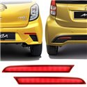 PERODUA AXIA Advance/ MYVI ICON Low Spec Night Rider Sportivo Sequential Blinking Rear Bumper LED Light Reflector with Signal