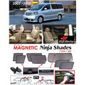 TOYOTA ALPHARD ANH10 2002 - 2007 NINJA SHADES UV Proof Custom Fit Car Door Window Magnetic Sun Shades (7pcs)
