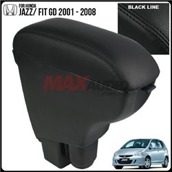 HONDA JAZZ/ FIT GD 2002 - 2008 Quality Genuine Cow Leather Center Arm Rest Console Box with Cup Drink Holder