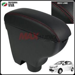 PERODUA VIVA Quality Genuine Cow Leather Center Arm Rest Console Box with Cup Drink Holder