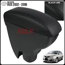 TOYOTA VIOS 2002 - 2006 Quality Genuine Cow Leather Center Arm Rest Console Box with Cup Drink Holder