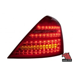MERCEDES BENZ W221 S-Class 2007- 2013 EAGLE EYES Red/ Clear Tail Lamp [TL-030-BENZ-1]