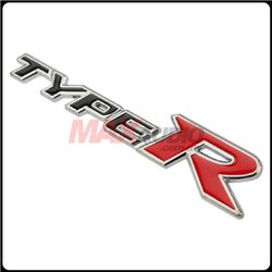 GENUINE HONDA TYPE-R Rear Trunk Stainless Steel 3D Logo Wording Emblem for ALL HONDA Cars Made In Japan
