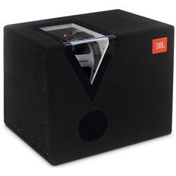 "JBL GT-12BP 12"" Passive 1200W Bandpass Enclosure Car Audio Subwoofer Box System with Orange LED Light"
