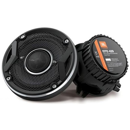 "JBL GTO429 4"" 2-Way 50W RMS 105 Peak Power 3-ohms Coaxial Car Audio Speaker with Edge Driven Tweeters System"