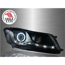 HONDA ACCORD 2008 - 2012 EAGLE EYES LED Starline CCFL Light Ring Projector Head Lamp [HL-100-1]
