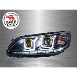 HONDA ACCORD 2013 - 2017 EAGLE EYES Titanium U-Concept LED Light Bar Double Projector Head Lamp [HL-166]