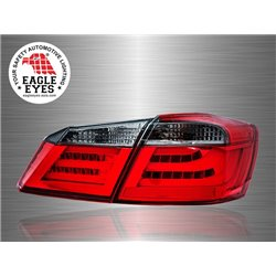 HONDA ACCORD 2013 - 2017 EAGLE EYES Red Clear F-Style LED Light Bar Tail Lamp [TL-229]