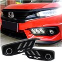 HONDA CIVIC FC 2016 - 2017 Mustang Style Daytime Running Light Fog Lamp Cover with Turn Signal (HC-002)