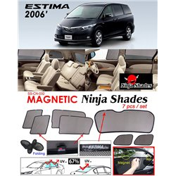TOYOTA ESTIMA/ PREVIA ACR50 2006 - 2017 NINJA SHADES UV Proof Custom Fit Car Door Window Magnetic Sun Shades (7pcs)