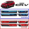 HONDA CRV CR-V 2017 Colored DIY Plug and Play OEM Stainless Steel Door Side Sill Step Plate Garnish Made In Taiwan (Red/Blue)