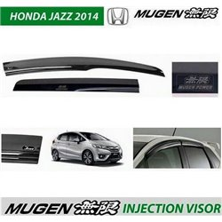 HONDA JAZZ/ FIT GK 2014 - 2017 ORIGINAL Mugen Injection Anti UV Light Door Visor with Mugen Power Logo (AL)