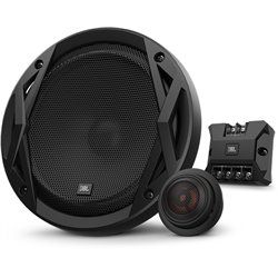 "JBL CLUB 6500C 6.5"" 2-Way 80W RMS 240W Peak Power 3-ohms Car Audio Component Speaker with Edge Driven Tweeters System"