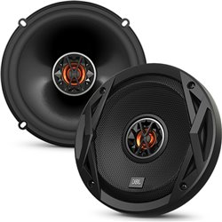 "JBL CLUB 6520 6.5"" 2-Way 100W RMS 300W Peak Power 3-ohms Car Audio Coaxial Speaker with Edge Driven Tweeters System"