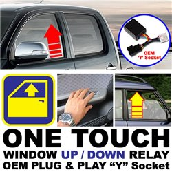 "(MOST CARS) OEM Plug and Play ""Y"" Socket One Touch Window Automatic Up and Down Relay System"