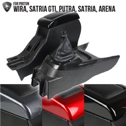 (2in1) PROTON WIRA, SATRIA GTI, PUTRA, SATRIA, ARENA Leather Arm Rest and Gear Concole Box [AR-WR]