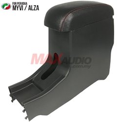 PERODUA ALZA and All MYVI 2005 - 2018 Leather Center Arm Rest Console Box with Cup Drink Holder