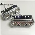 YCL 12V 21 LED Super Bright Daytime Running Light [M-705] (Blue / White)