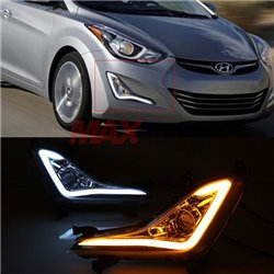 HYUNDAI ELANTRA MD Facelift 2013 - 2017 J-Concept Light Bar Daytime Running Light Fog Lamp Cover with Turn Signal