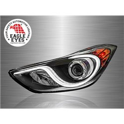 HYUNDAI ELANTRA 2011 - 2017 EAGLE EYES S-Concept LED Light Bar DRL Projector Head Lamp [HL-139-2]