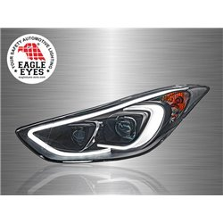 HYUNDAI ELANTRA 2011 - 2017 EAGLE EYES LED Light Plank Double Projector Head Lamp [HL-139-3]
