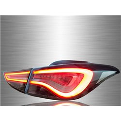 HYUNDAI ELANTRA 2011 - 2017 FL-Style Smoke Lens LED Light Bar Tail Lamp [TL-281]