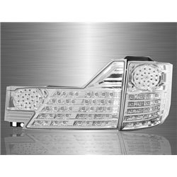 TOYOTA ALPHARD ANH10 Facelift 2005 - 2007 Clear Chrome Lens LED Tail Lamp [TL-128-1]