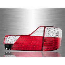 TOYOTA ALPHARD ANH10 Facelift 2005 - 2007 Red Clear Lens LED Tail Lamp [TL-129]