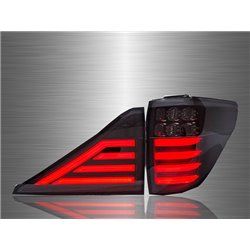 TOYOTA ALPHARD/ VELLFIRE ANH20 2008 - 2010 Axis-Style Clear Black Lens LED Light Bar Tail Lamp [TL-243]