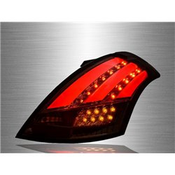 SUZUKI SWIFT 2013 - 2017 Full Smoke Lens LED Light Bar Tail Lamp [TL-202]