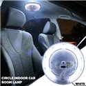 (Limited Stock) Universal CCFL LED Neon Circle Round Ring Tube Car Vehicle Indoor Cabin Room Lamp Light (White)