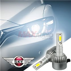 SKY V11 Series 6000K High Intensity Car Vehicle Automotive LED Head Light Bulb Conversion Kit