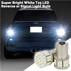 Hyper Bright White T25 54 LED Reverse or Signal Light Bulb (Pair)