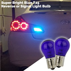 Super Bright Blue T25 1 LED Reverse or Signal Light Bulb (Pair)