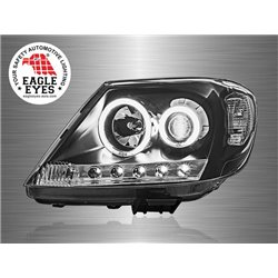 TOYOTA HILUX VIGO 2004 - 2010 EAGLE EYES CCFL LED Light Ring Starline Daytime Running Light Projector Head Lamp [HL-069-2]