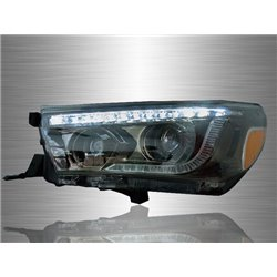 TOYOTA HILUX REVO 2015 - 2017 LED Daytime Running Light Double Projector Head Lamp [HL-206]