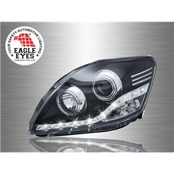 TOYOTA VIOS 2007 - 2012 EAGLE EYES LED Starline Daytime Running Light Projector Head Lamp [HL-123-1]