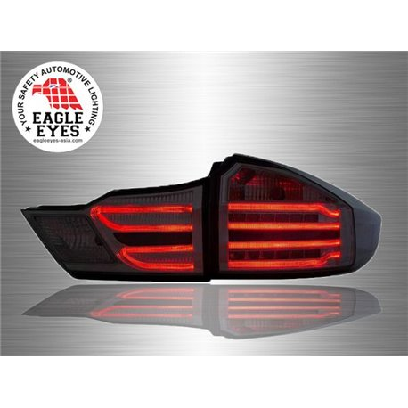 HONDA CITY GM6 2014 - 2017 EAGLE EYES Benz-Style Full Smoke Lens LED Light Bar Tail Lamp [TL-260]