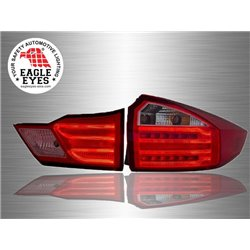 HONDA CITY GM6 2014 - 2017 EAGLE EYES Benz-Style Red Smoke Lens LED Light Bar Tail Lamp [TL-260-2]