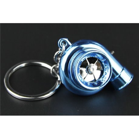 Turbo Keychain Key Ring with Spinnable turbine + Sounds + LED Light!
