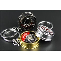 [Limited Edition] BBS RX-R Style Sport Wheel Rim Premium Keychain Key Ring with Spinnable Disc Brake