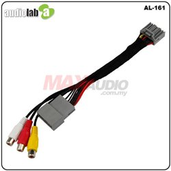 HONDA CITY CRV HRV JAZZ ODYSSEY AUDIOLAB Park Brake Bypass Cable Video In Motion TV Free Plug and Play Socket Cable [AL-161]