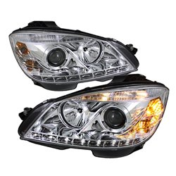 MERCEDES BENZ W204 C-Class 2008 - 2010 SONAR LED Starline Daytime Runnig Light Projector Head Lamp (Chrome Housing)